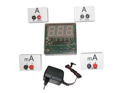 Амперметр демонстрационный цифровой предназначен для измерения силы тока в цепях постоянного и пе.